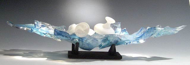 Caleb Nichols Return Passage Blown Glass Sculpture - Nautical Luxuries
