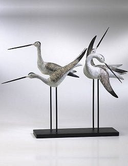 Sandpiper Flock Metal Sculpture