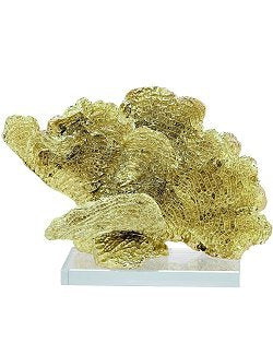 Metallic Chic Corduroy Coral Sculptures - Nautical Luxuries