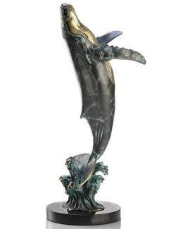 Humpback Pirouette Tabletop Sculpture - Nautical Luxuries