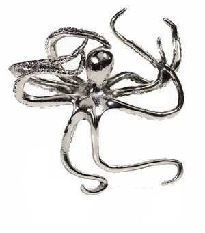 Petite Silver Octopus Decorative Sculpture - Nautical Luxuries