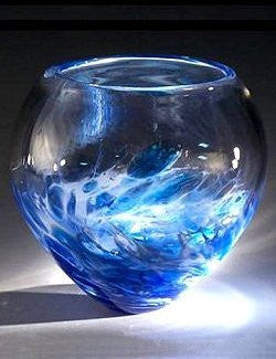 Caleb Nichols Offshore Tempest Glass Sculpture Bowl - Nautical Luxuries
