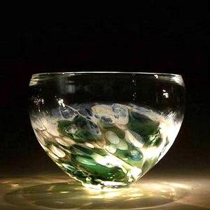 Caleb Nichols Offshore Emerald-Sea Glass Sculpture Bowl - Nautical Luxuries