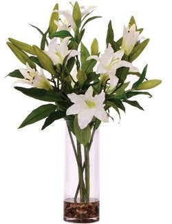 Blooming Lilies Yacht Silks Arrangement - Nautical Luxuries