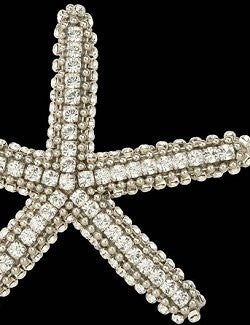 Swarovski Crystals Starfish Decorative Accents - Nautical Luxuries