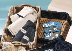 Italian Yachtsman's Cross-Hatch Shoe Basket - Nautical Luxuries