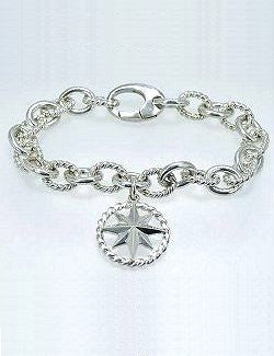Compass Rose Charm Bracelet - Nautical Luxuries