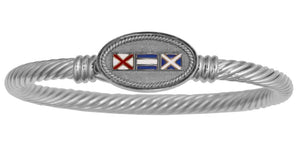 Nautical Signal Flags Custom Initials Twisted Rope Bracelet - Nautical Luxuries