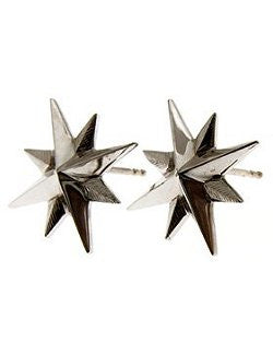 Petite Compass Rose Stud Earrings