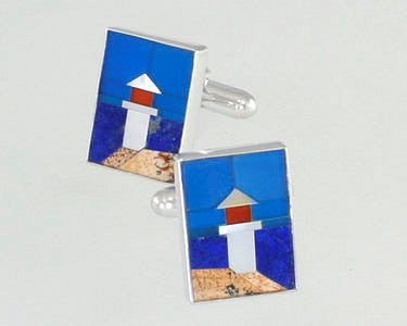 New England Lighthouse Cufflinks - Nautical Luxuries