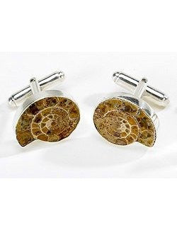 Nassau Nautilus Ammonite Cufflinks - Nautical Luxuries