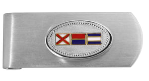Signal Flag Custom Initials Money Clip - Nautical Luxuries