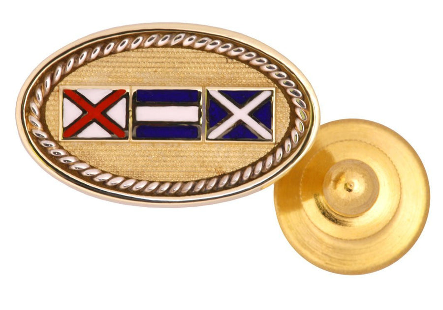 Code Flags Custom Initials Tie Tac/Lapel Pin - Nautical Luxuries