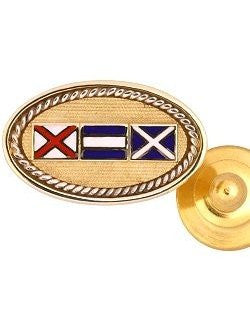 Code Flags Custom Initials Tie Tac/Lapel Pin