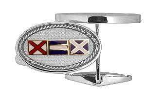 Code Flags Custom Initials Cufflinks - Nautical Luxuries