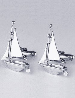 Sterling Silver Sailing Yacht Cufflinks - Nautical Luxuries