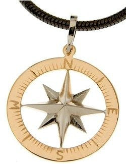 Compass rose gold waypoints necklace large pendants nautical luxuries compass rose gold waypoints necklace large pendants aloadofball Choice Image