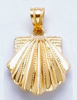 Sanibel Shores Faceted Scallop Shell Pendant