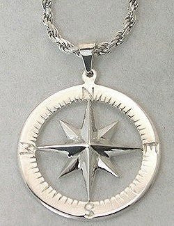 Compass Rose Waypoints Sterling Silver Necklace