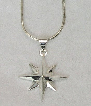 Grande Compass Rose Necklace - Nautical Luxuries