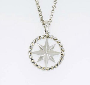 Nautical Line Compass Rose Necklace - Nautical Luxuries