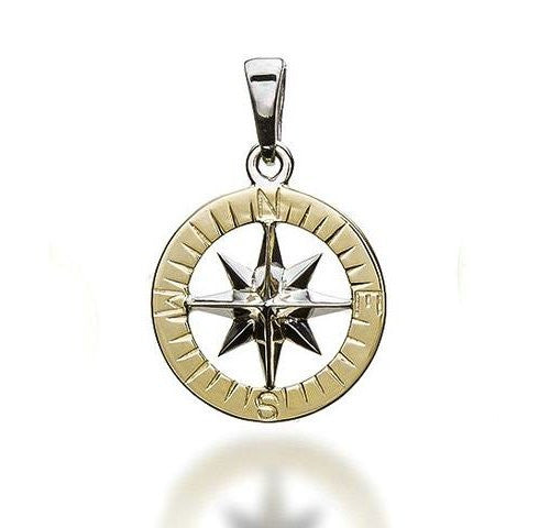 Compass Rose Gold Waypoints Necklace Large Pendants