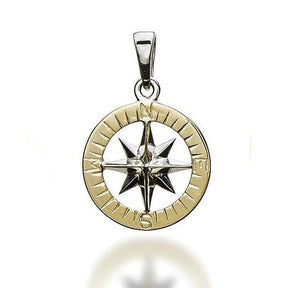 Compass Rose Gold Waypoints Necklace Large Pendants - Nautical Luxuries