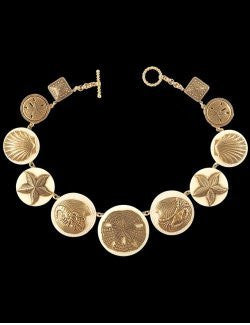 Heirloom Relics Ivory Sea Life Link Necklace