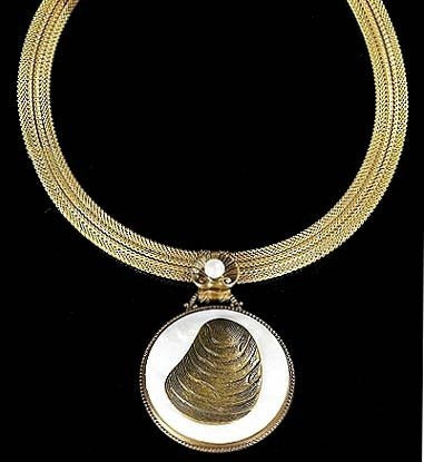 River Shell Pendant Necklace