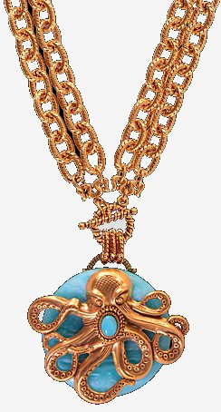 Heirloom Octopus Pendant Necklace - Nautical Luxuries