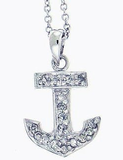 Mini-Anchor Diamond Necklace