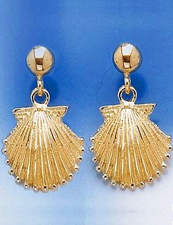 Sanibel Shores Scallop Shell Drop Earrings