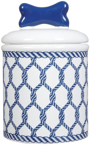 Nautical Net Ceramic Pet Canisters & Bowls - Nautical Luxuries