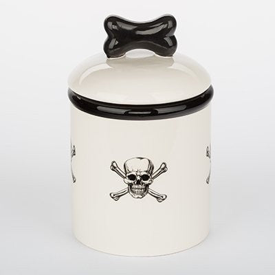 Pirate Skull & Crossbones Ceramic Pet Canisters & Bowls