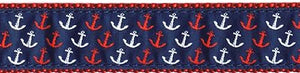Nylon Web Coastal & Nautical Pet Collars - Nautical Luxuries