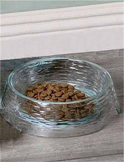 Non-Breakable Sea Glass Acrylic Pet Bowl & Canister - Nautical Luxuries