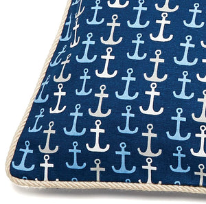 Yachting Anchors Indoor Pet Futon - Nautical Luxuries