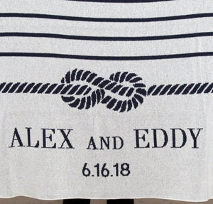 Custom Bride And Groom Eco-Conscious Throw - Nautical Luxuries