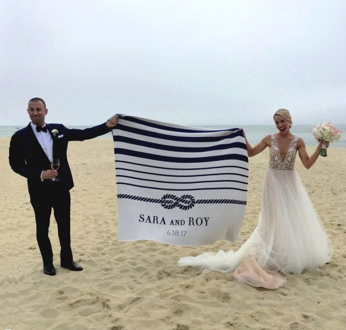 Custom Bride And Groom Eco-Conscious Throw