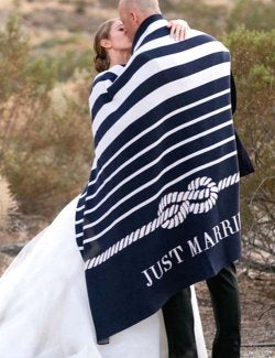 Just Married Eco-Conscious Throw - Nautical Luxuries