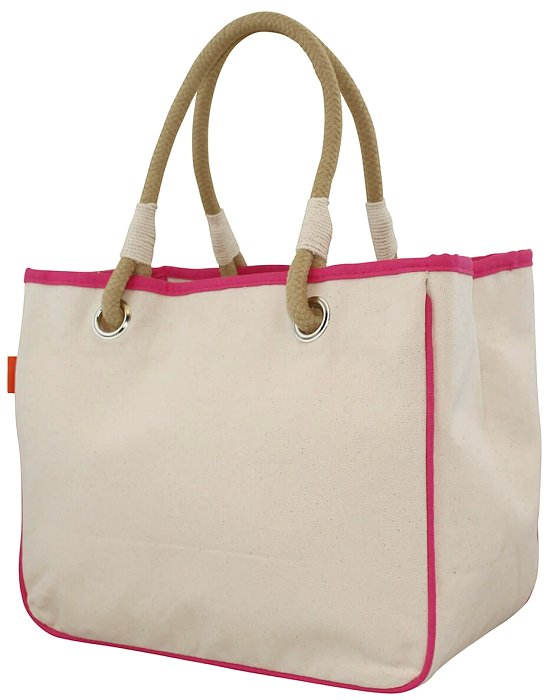 Natural Canvas Rope Handle Purse/Totes