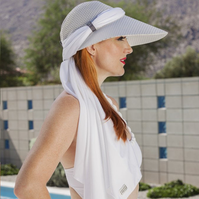 UVAURA Sun-Protection Fashion Hat/Scarf Set
