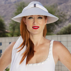 UVAURA Sun-Protection Fashion Hat/Scarf Set - Nautical Luxuries