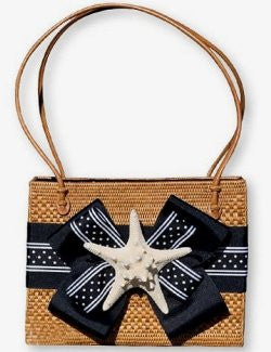 Summer In Nantucket Knobby Starfish Purse