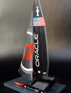 America's Cup Desk Model: Oracle Team USA 17 2013 - Nautical Luxuries