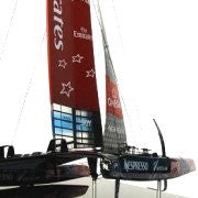 America's Cup 2013 AC72 Desk Model: Emirates Team New Zealand - Nautical Luxuries