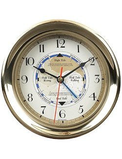 Desk Tide Clock with Mahogany Base - Nautical Luxuries