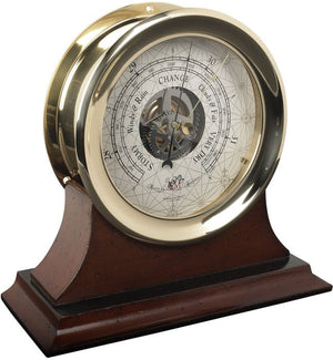 Classic Brass Ship's Clock & Barometer - Nautical Luxuries