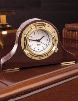 Weems & Plath Porthole Mantle Clock - Nautical Luxuries