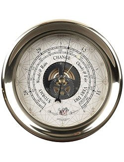 Classic Brass Wall Mount Ship's Barometer - Nautical Luxuries